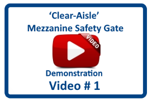 'Clear-Aisle' Mezzanine Safety Gate - Short Demo. Video by Benko Products, Inc.