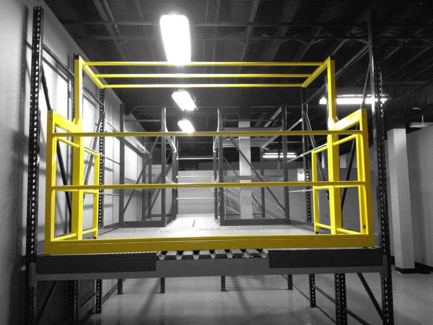 Mezzanine Pallet Gate : Mezzanine safety gate 'clear height industrial
