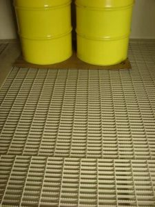 EPI Chemical Storage Fiberglass Floor Grating