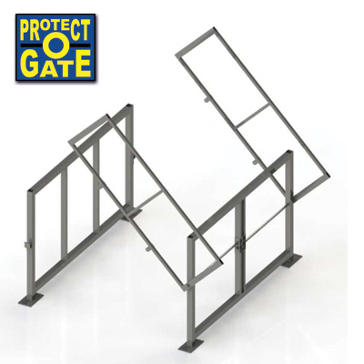 Protect-O-Gate: 'Clear-Height' Mezzanine Safety Gate