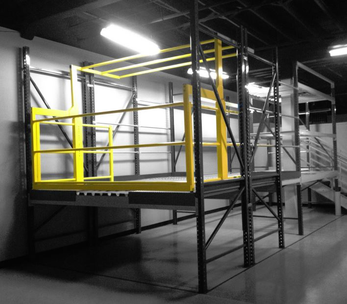 Protect O Gate Pivot Gate Model Mezzanine Safety Gate