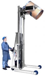 Mobile drum handlers to lift and pour drum