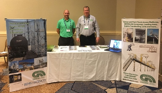 Benko Products' GREEN Access & Fall Protection team is just completing two weeks of trade shows.