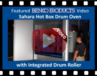 Benko Products, Inc. | Featured Drum Oven with Integrated Drum Roller.