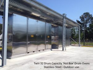 Two 32 drum capacity, stainless steel Hot Boxes